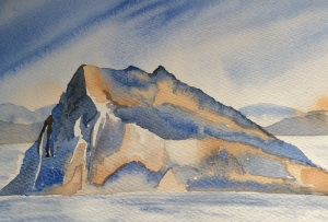 Gibraltar watercolour