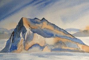 Gibraltar watercolour