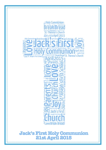 boys communion card