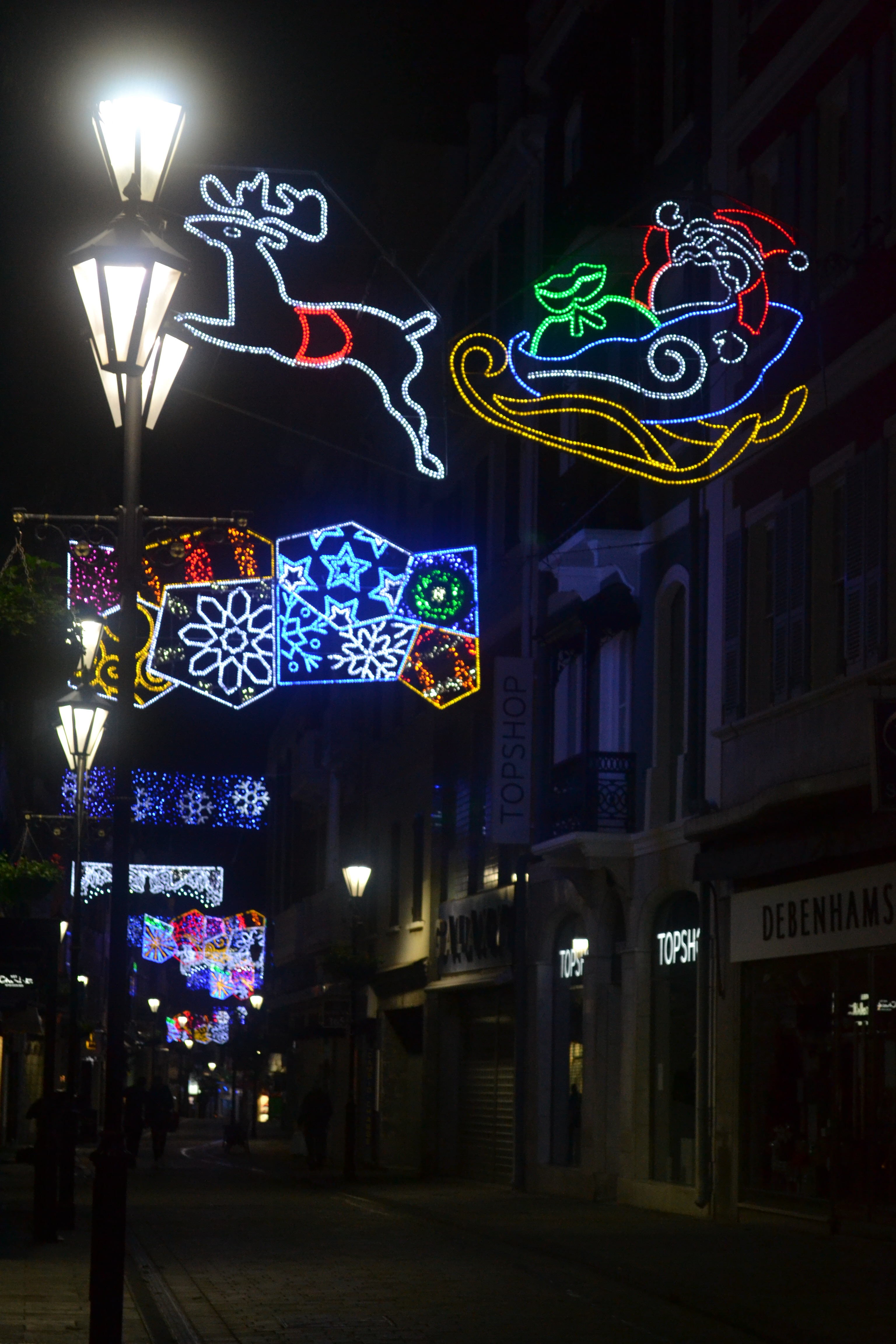 gibraltar does do christmas lights well so i thought id take you on a little nocturnal stroll with me to show you some of them
